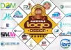 Design 5 High Quality and SPECTACULAR Logos for your website, business or product