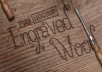create  your name in wooden