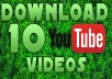 download 10 HD YouTube Videos