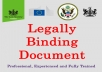 prepare or review a legal document for you