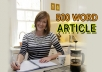 Write or REWRITE 2 ARTICLES of 500 Words Each
