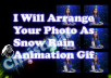make your picture as falling stars and snow