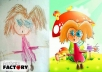 add magic to kids drawings