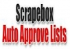 ** New 16000 Auto Approve Scrapebox List. This list is compiled from ** 2950 unique domains and have a good success rate. November 2011 Special Edition.