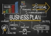 design a professional business plan