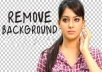 professionally REMOVE Background 5 images with white or transparent
