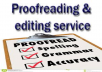 proofread, edit, and revise your document