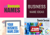 create 10 perfect business names with domains in 24Hrs