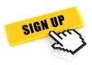sign up to a website
