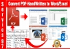 Convert PDF to Word - Excel