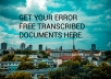 provide accurate transcripts for your 20 minutes audio and video file