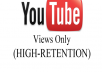 give you Instantly 3000+ SUPER FAST High Retention youtube views Within 24 hours