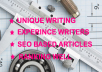 write 1 SEO Based 500words Unique Handwritten Article