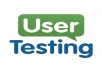 test web site as a user