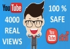 Give Fast 4000 - 4500 Youtube Views + 10 LIKES Improve SEO Ranking