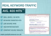 Direct Keyword Targeted Traffic for 7 days