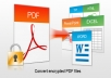 convert, edit, unlock PDF to Word, Excel, PowerPoint