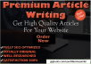 write A Premium 500 Words SEO Article
