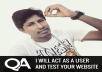 test your website and provide detailed bug report