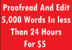 PROOFREAD and EDIT 5000words in 24hrs pdf and word documents