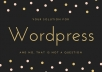 create an OUTSTANDING wordpress website or blog