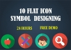 design flat icons button symbols in 24 hours