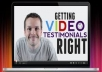 Give You A Positive Video Testimonial On Your Online And Offilne Sales Page