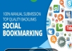 provide 1000 social media BOOKMARK backlinks with Max indexer rate