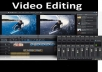 Professionally Edit any of video for your choice just