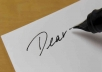 write a personalized letter of advice to you