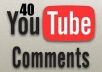 post 20 custom YouTube comments to your video