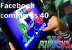 give you 30 attractive facebook comments