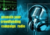 promote your Crowdfund project on Radio Station