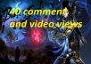 give you youtube commenting and video vews