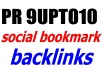do 20 PR9 social bookmarking backlinks