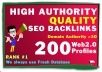 do 200 High Quality Authority SEO Profile Backlinks,to website rankings