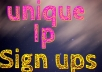 I will provide you sign ups  55 If you need my service please orderme