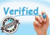 give Forward your twitter account to verification deparment