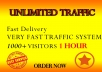 drive 1000+ genuine real traffic to your website for one 1 hr