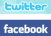 advertise your website on facebook and twitter