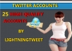 Help You Create 25 Twitter Accounts For your Business