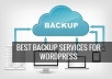 create wordpress site complete backup