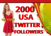 Add 1000 USA TWITTER FOLLOWERS To Your Twitter Account