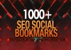 add your site to 1000 SEO social bookmarks