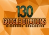 build 130 Google Map Citations for Local SEO