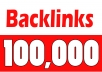 provide 100,000 GSA Backlinks for your site