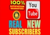 Manually Add 50+ Real YouTube Subscribers