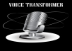 I can transcode/convert your female/male voice to a male/female voice. Audio can either be a voice over or a song.