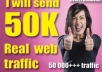 give you 50,000 visits to your website or blog