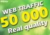 Drive 50 000 Real Web Traffic To Your Website From(Social Media-Search Engines)